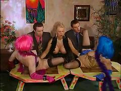 Mature Hostess Fisting Young Pussies