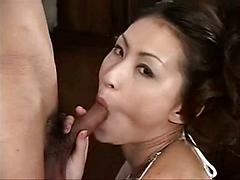 Sweet japanese babe get a fuck from visitors