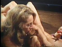 Hot Blonde Lesbian Licks Her Lovers Hairy Pussy