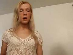 Three Blonde Transexual Whores Have Threesome