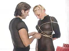 Kinky German Babe Loves Being Tied Up And Rough Play