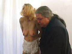 Sexy Blonde With Pierced Nipples Gets Fondled