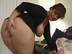Older Lady Takes Cock And Gets Cum On Her Face