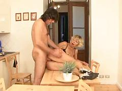 Milf Blonde Babe Gets A Kitchen Dicking