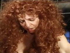 Curly Haird Dirty Slut Puts Everything In Her Pussy