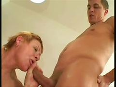 Grandma Sucks Sex Toy And Gets Fucked From Behind