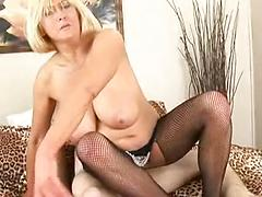 Hot Blonde Granny Will Make You Cream In Her Mouth