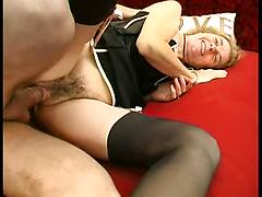 Granny Pussy And Asshole Been Drilled From Behind