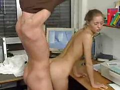 Busty Teen Girl With Small Tits Fucked In Dogy Style