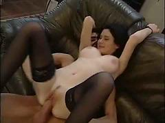 Brunette Russian Teen With Nice Tits Gets Her Ass Fucked