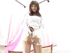 Japanese Cutie Spreads Her Hairy Bush To Vibrate