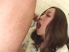 Asian Pussy Gets Fucked In A Bathroom Stall