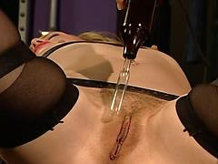 Tied Up And Spanked For Lesbian Bondage Fun