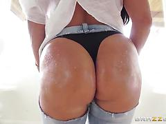 Big-assed pornstar Holly Halston gets satisfied by rear fucking