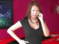 Asian babes with divine bodies Lana Violet and Beti Hana go lesbian