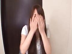 Sweet Japanese woman with long hair involved in a group sex orgy