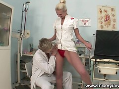 Sexy Nurse Fulfills Her Fantasy Of Sex In The Hospital